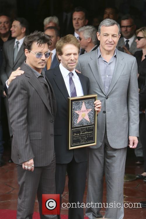 Johnny Depp, Jerry Bruckheimer, Hollywood Blvd
