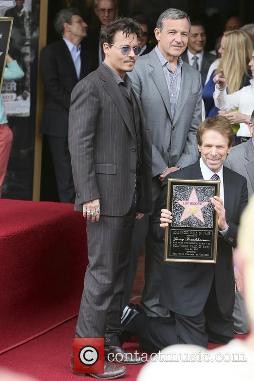 Johnny Depp, Jerry Bruckheimer, Hollywood Blvd