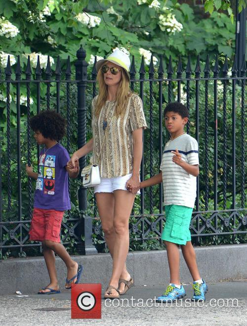 Heidi Klum , Martin Kristen, and her children...