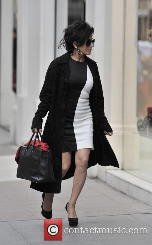 Nancy Dell'Olio out and about in Sloane street