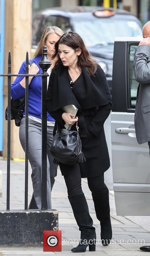 Nigella Lawson arrives at Soho Hotel Little House