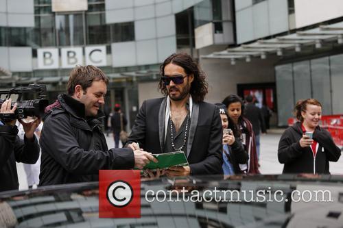 russell brand celebrities at the bbc radio 3732552
