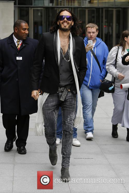 russell brand celebrities at the bbc radio 3732553