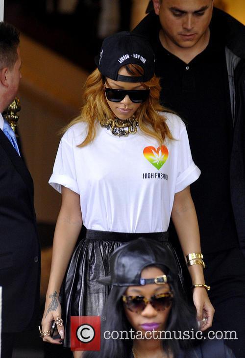Rihanna leaves the Amstel Hote