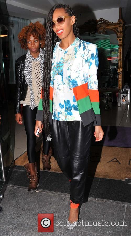 Solange Knowles leaving her hotel