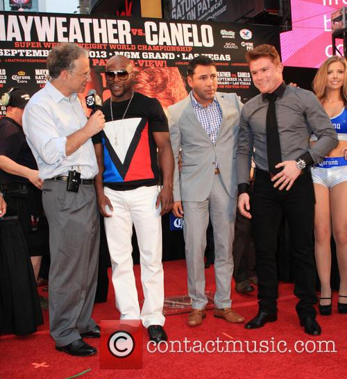 Floyd Mayweather and Canelo Alvarez 2