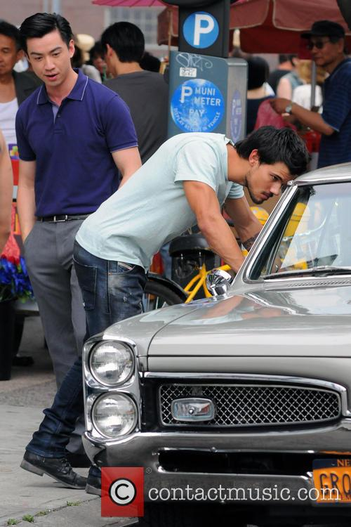 Filming of action movie Tracers