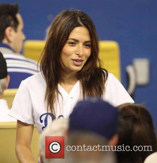 Actress Sarah Shahi at the Los Angeles Dodgers...