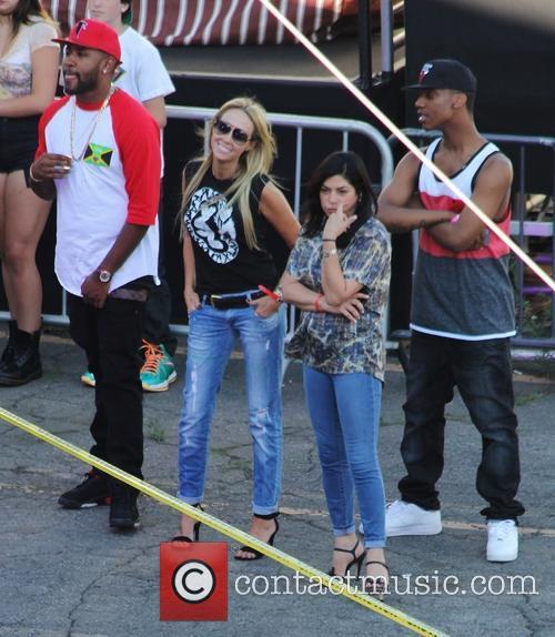 Celebrities outside ABC's 'Jimmy Kimmel Live!' studios