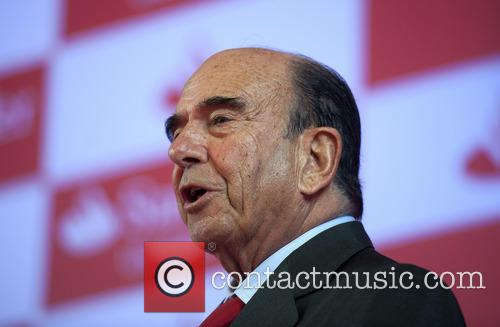 Emilio Botin attends the Santander Universities meeting