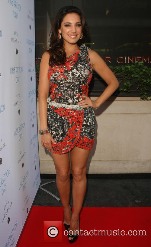 Kelly Brook arriving at the Sanctum Hotel