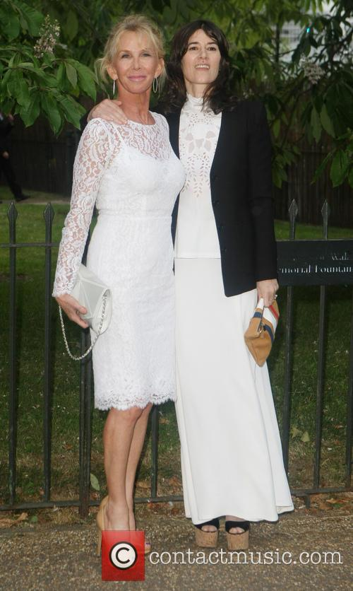 Trudie Styler and Bella Freud 1