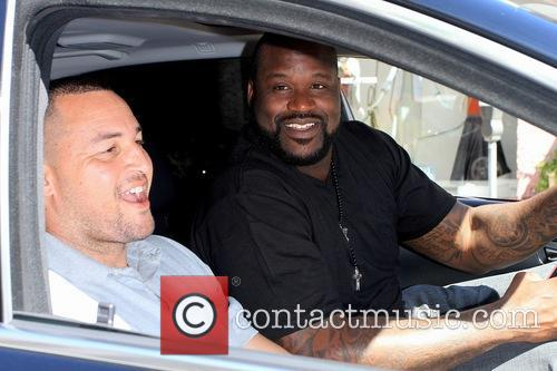 Shaquille O'Neal driving In Beverly Hills