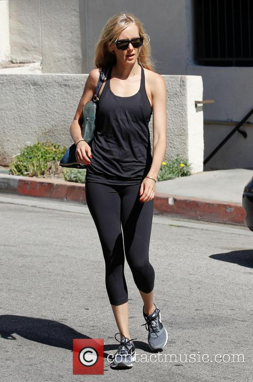 Kimberly Stewart Arrives At The Gym