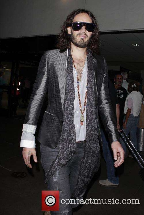 Russell Brand Arrives At LAX