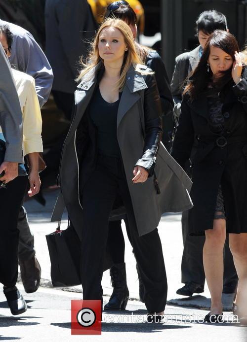 Actors film scenes for 'Veronica Mars'