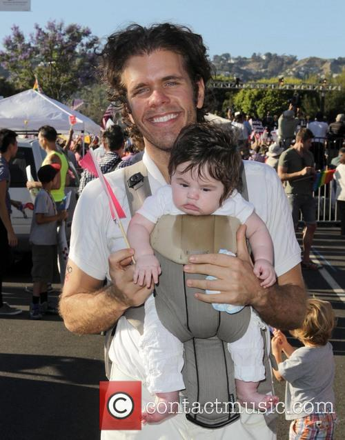 Perez Hilton and With Baby 1