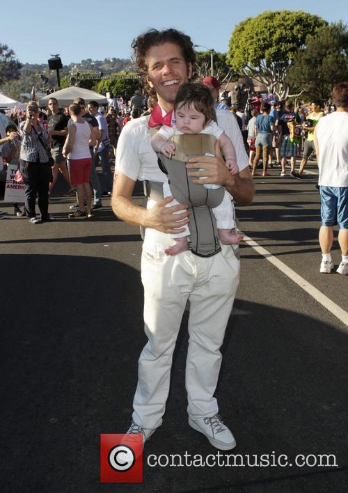 Perez Hilton and With Baby 2