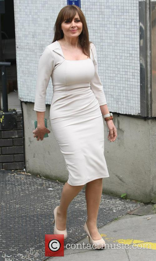 carol vorderman celebrities leaving the itv studios 3737477