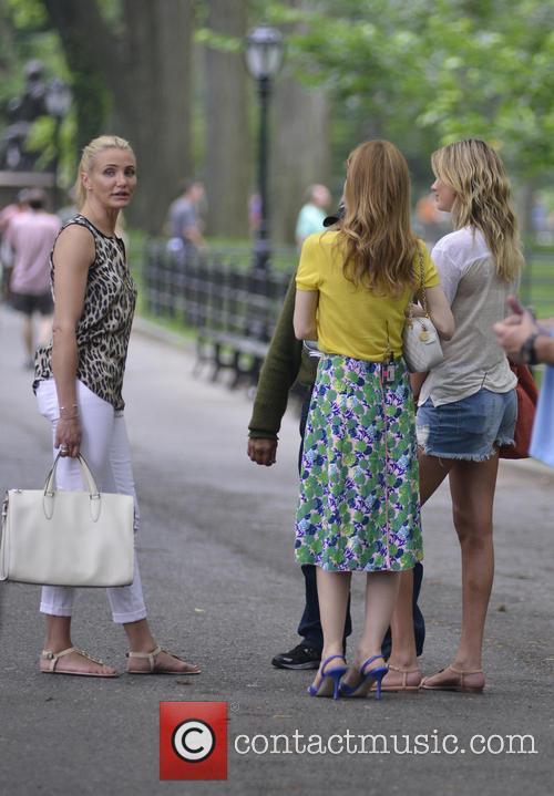 Cameron Diaz, Leslie Mann, Kate Upton, Central Park
