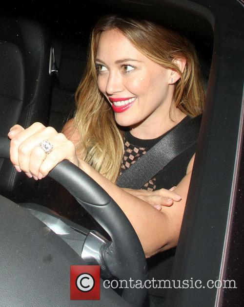 Hilary Duff leaves Aventine restaurant
