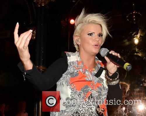 Kerry Katona performs at Dublin's Premier gay club...