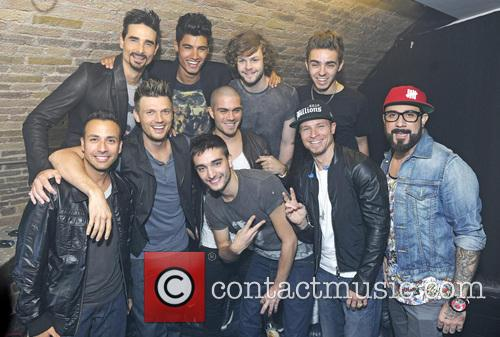 Backstreet Boys and The Wanted backstage at G-A-Y...