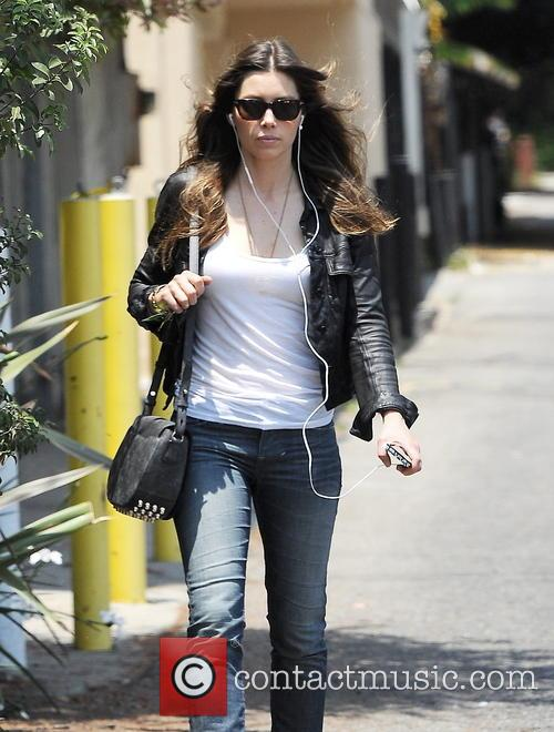 Jessica Biel has lunch in Hollywood