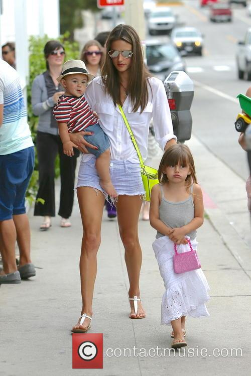 Alessandra Ambrosio is seen leaving Calypso