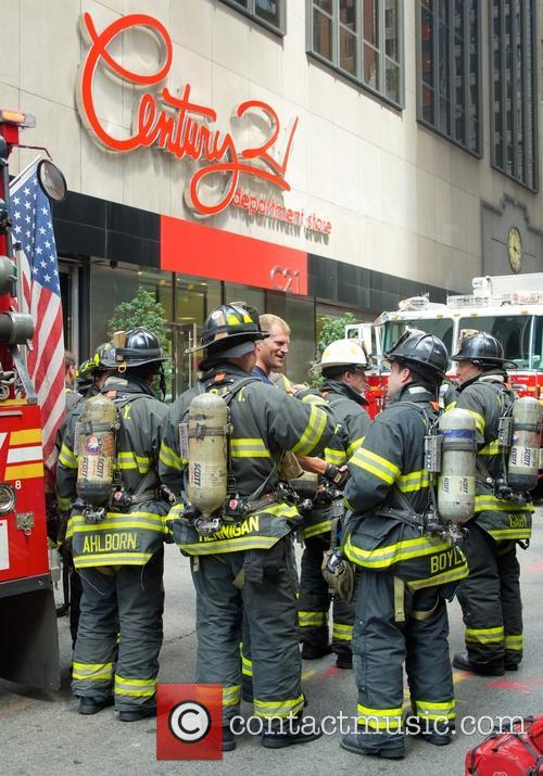 New York City firefighters arrive to put out...