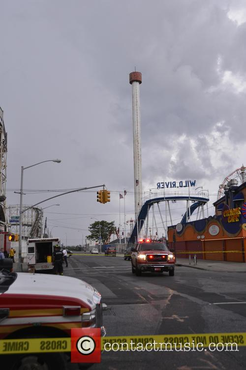 The Astrotower in Coney Island's Luna Park shutdown