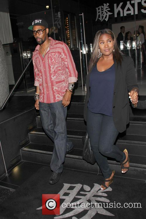 RZA outside of Katsuya Restaurant in Hollywood