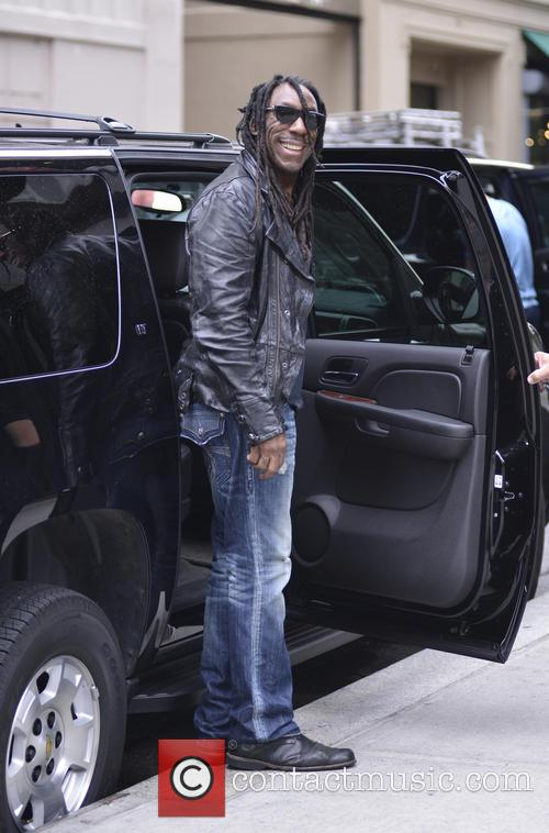 Boyd Tinsley seen leaving his hotel