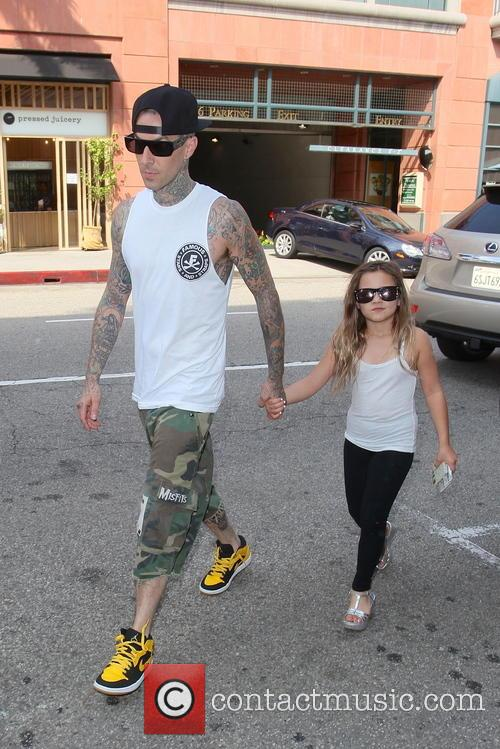 Travis Barker and Alabama Luella Barker 2