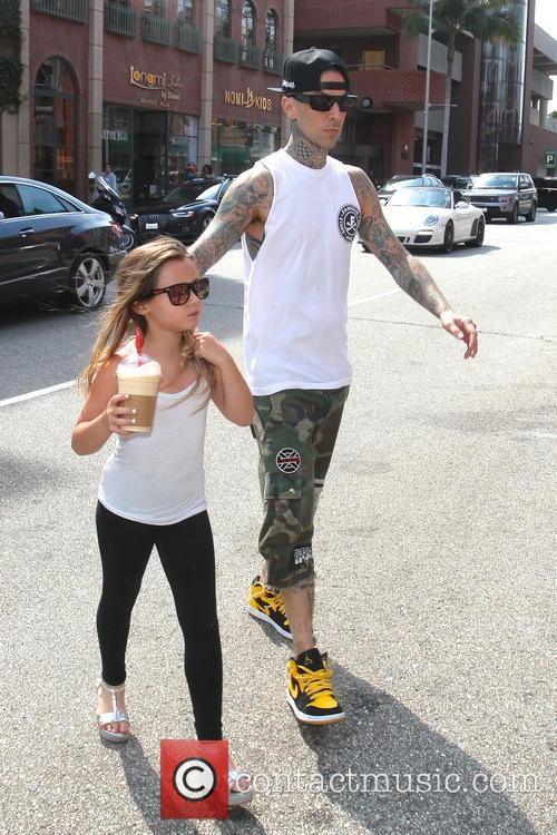 Travis Barker and Alabama Luella Barker 5