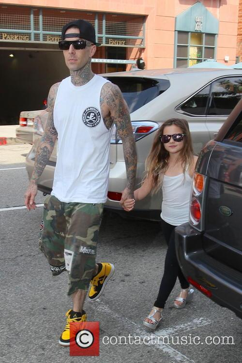 Travis Barker and Alabama Luella Barker 9