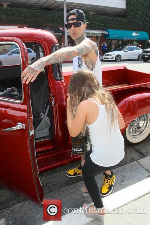 Travis Barker and Alabama Luella Barker 17