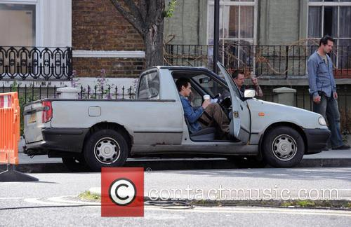 Kate Hudson and James Franco filming their new movie 'Good People' on location in West London.