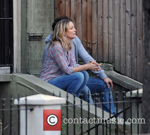 Kate Hudson and James Franco filming their new...