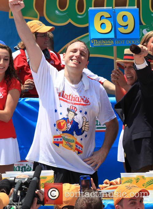 Joey Chestnut, Nathans Famous  Surf Avenue Brooklyn NY