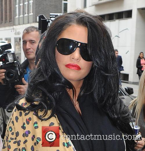 Katie Price arrives at a hotel