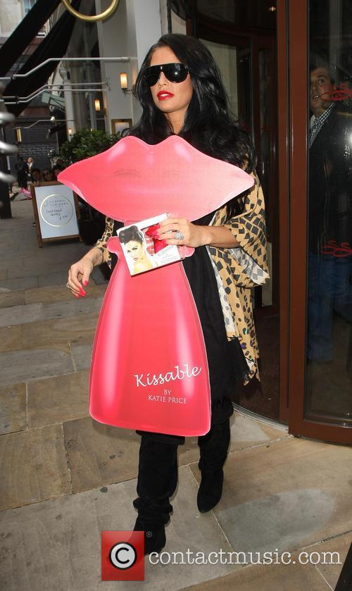 Katie Price leaves the Soho Sanctum Hotel