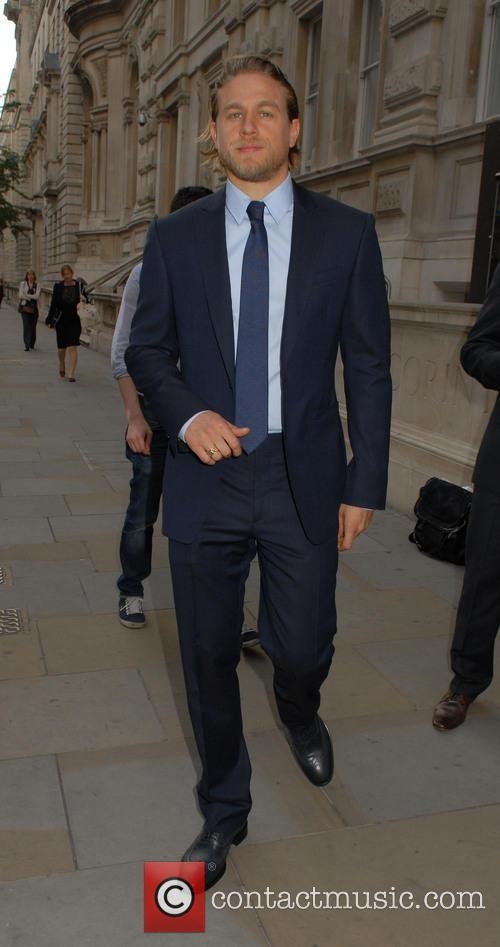 Cast members of the upcoming film 'Pacific Rim' leaving their London hotel