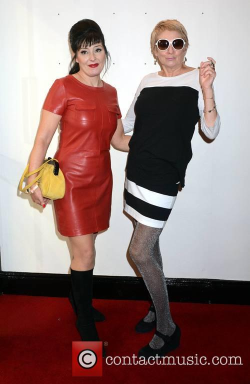 Jean Byrne and Carrie Fisher