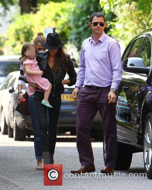 Victoria Beckham takes her daughter Harper to her...