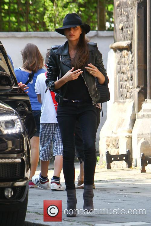 Victoria Beckham takes her daughter Harper to her youngest son Cruz's school prize-giving event