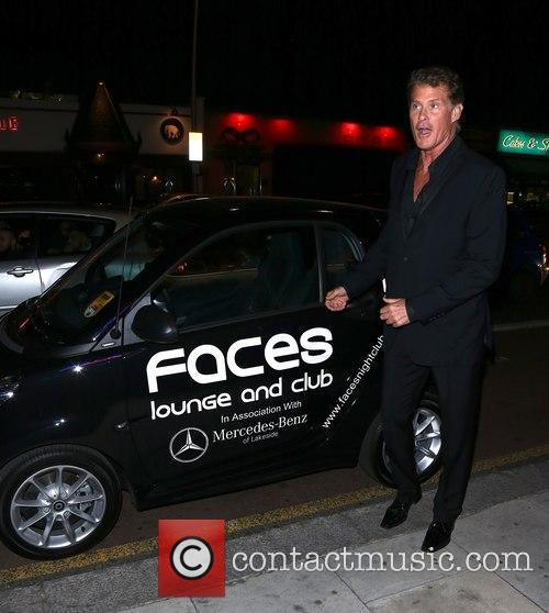David Hasselhoff makes a personal appearance at Visage Bar