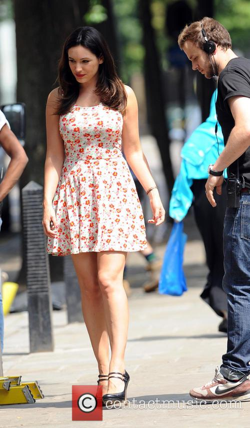 Kelly Brook filming 'Taking Stock'