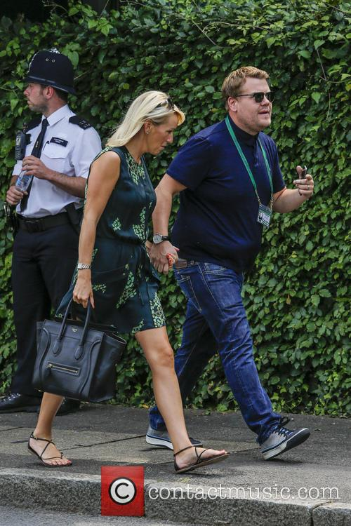 Julia Carey, James Corden, Wimbledon
