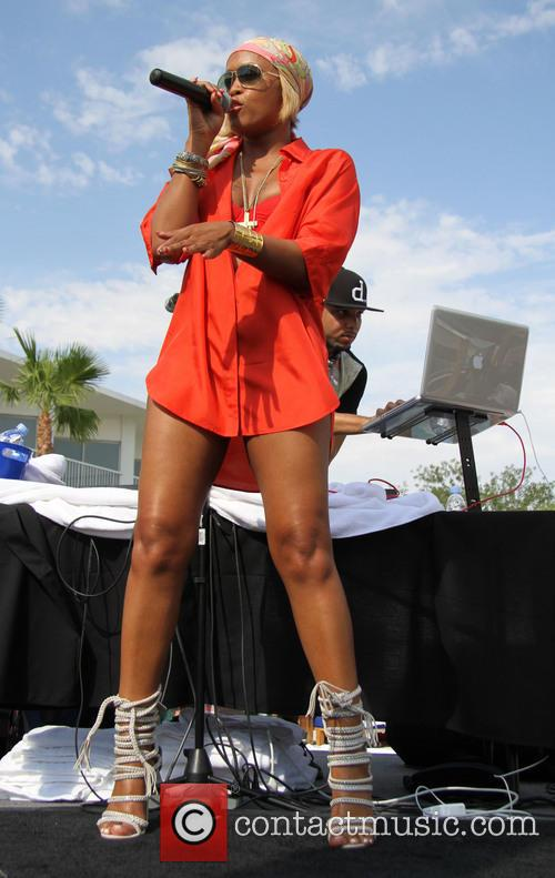Rapper Eve performs at Bagatelle Beach